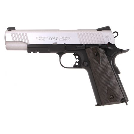 Pistolet Colt 1911 Rail Gun Stainless Dual Tone CO2 GBB Blowback - 180531