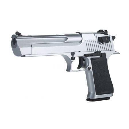 Pistolet Desert Eagle 50AE CO2 Silver - Metal & Blowback - KCB-51ACIH