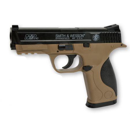 Pistolet Smith & Wesson MP40 (M&P40) Spring Noir Tan Cybergun 320135