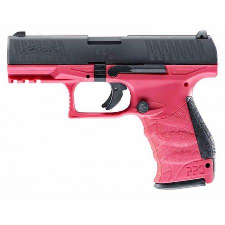 Pistolet VFC Walther PPQ M2 GBB Gaz Blowback Umarex Rose & Noir - 26348