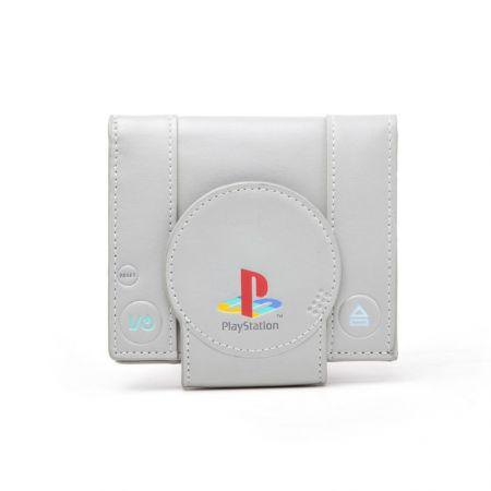 Portefeuilles Monnaie Gris Retro Console Sony PS1 Playstation 1 - PD-PT-6809