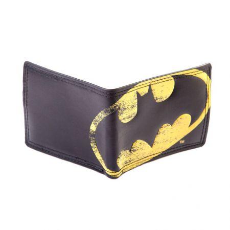 Portefeuilles Monnaie Noir Logo Vintage Batman DC - PD-PT-6994