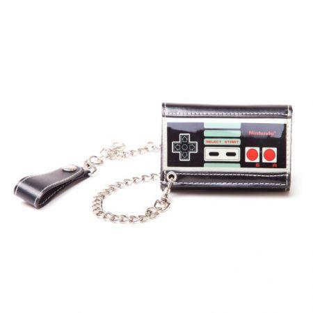 Portefeuilles Monnaie Noir Nintendo Manette NES Avec chaine - PD-PT-1011