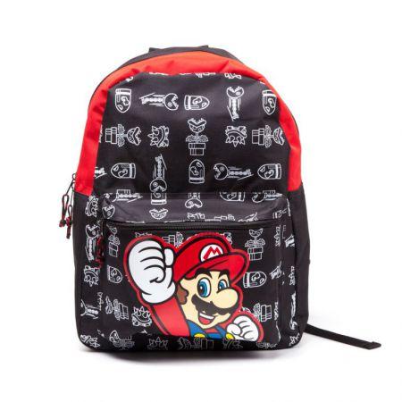 Sac a Dos Noir & Rouge Nintendo Super Mario - PD-SAC-0142