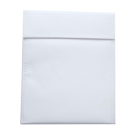 Sac Sachet Ignifugé Protection Batterie LiPO (Bag Anti Feu) - Blanc - 220x180mm - 17544