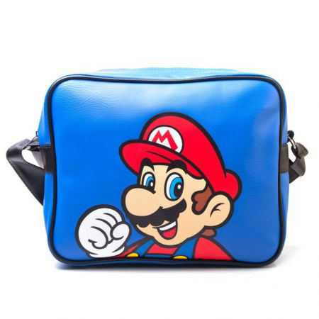Sac Sacoche Bandouli�re Similicuir Bleu Nintendo Super Mario - PD-SAC-3138