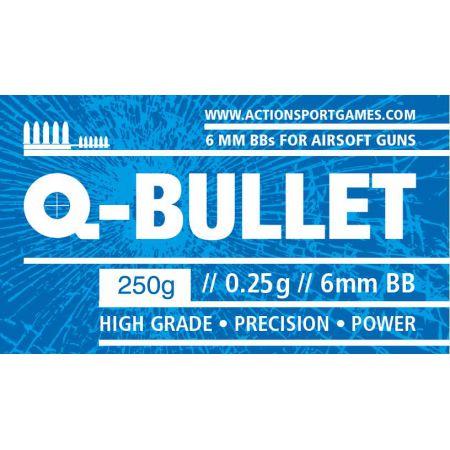 Sachet 250gr Billes Monobloc Blanches 0.25gr Q-Bullet (Environs 1000 Bbs) - 17647-1000