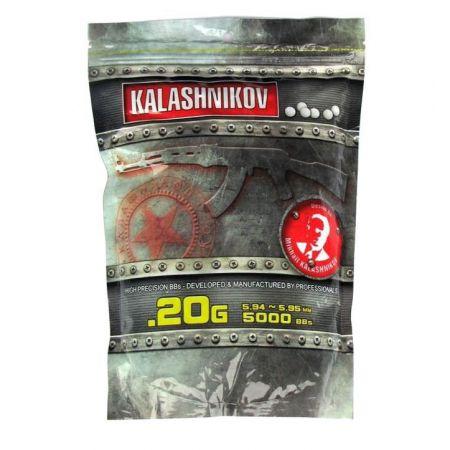 Sachet 5000 Billes (BBs) Blanches 0.20g Kalashnikov - 123500