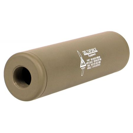 Silencieux Delta Force King Arms Universel 110x30 - 14mm CW CCW - Tan