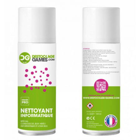 Spray Air Sec Depoussierant Nettoyant Informatique PRO 500ml