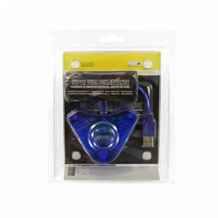 Adaptateur USB Pour 2 Manette Ps1 & Ps2 Sur Pc Eaxus