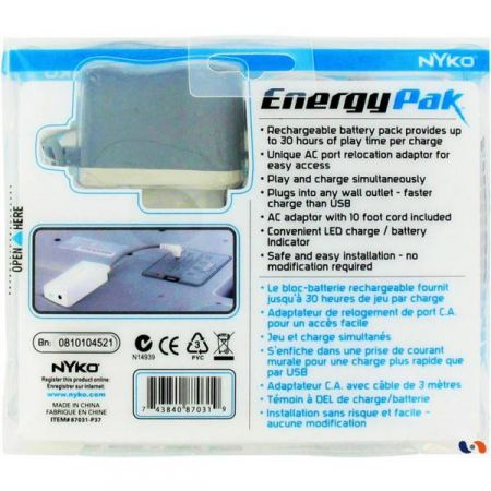 Batterie Balance Board Energy Pak Nyko Pour Nintendo Wii