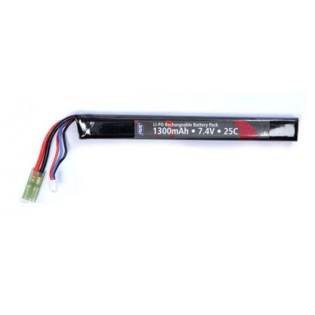 Batterie LI-PO Stick (LiPO) 7.4v - 1300mAh - 25c - 18568