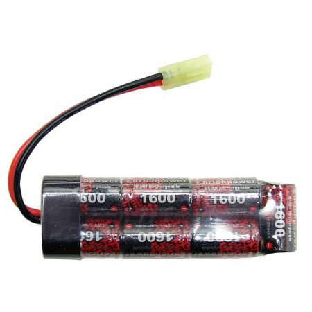 Batterie NiMH 8.4v - 1600mAh Type Mini (7 éléments) - Mini Tamiya - Enrichpower