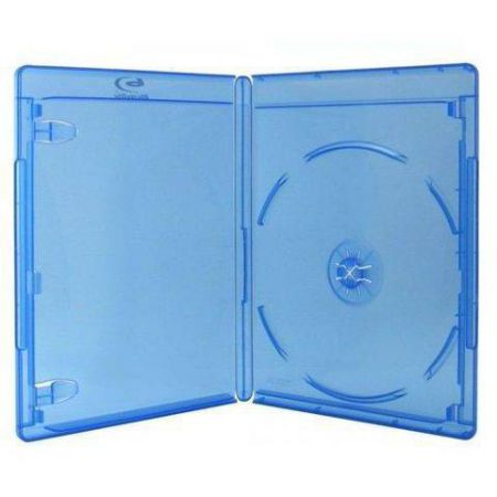 Boitier Blu-Ray Bleu Translucide Avec Logo