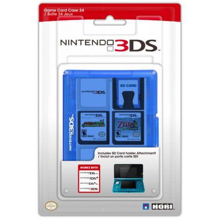 Boitier De Rangement 24 Jeux Bleu 3DS Officiel Nintendo Hori - 3DS-021U