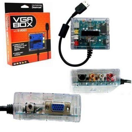 Boitier VGA Box Pour Console Sega Dreamcast + Sortie S-Video