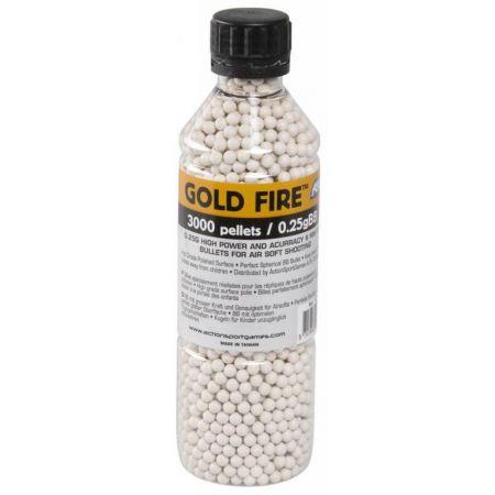 Bouteille 3000 Billes Gold Fire Blanche 0.25gr 14784
