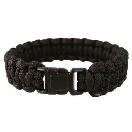 Bracelet de Survie en Paracorde Noir Miltec - 16370202