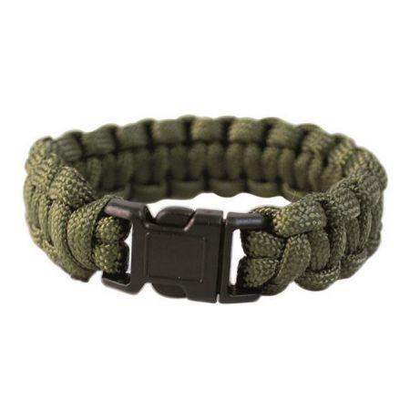 Bracelet de Survie en Paracorde Olive Miltec - 16370201