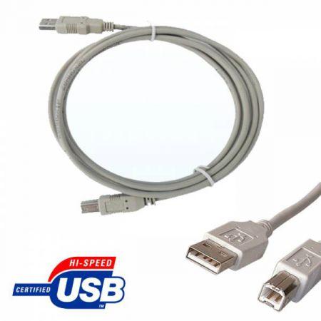 CABLE USB 2.0 TYPE A-B 2m IMPRIMANTE SCANNER BOX APPAREIL PHOTO HP EPSON etc ...