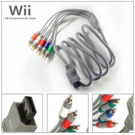 Cable Yuv Composante Hd Wii