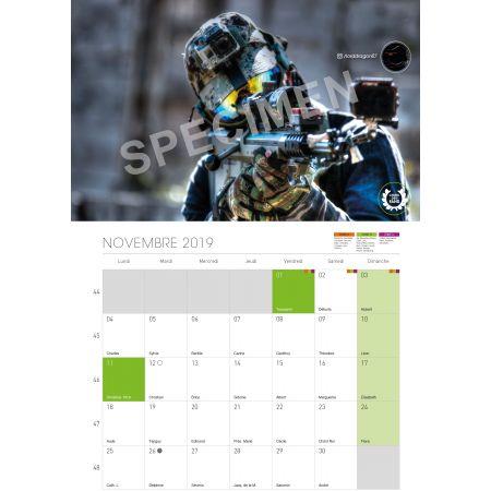 Calendrier 2019 Destockage-Games.com - Format Vertical à Spirale