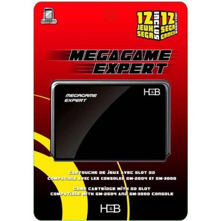 Cartouche Passport MegaGame Expert + Port SD + 12 Jeux Sega Megadrive