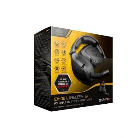 Casque + Micro Gaming Gioteck Ex-06 Sans Fil Ps4 Ps3 Pc Xbox 360 & Mac - EX6UNI-21-M0