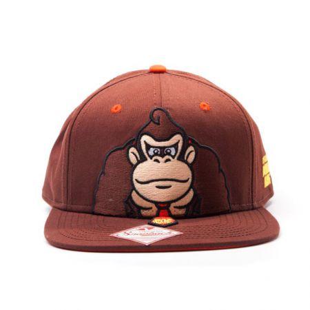 Casquette Marron US FLAT Snapback Nintendo Super Mario Donkey Kong - PD-CQT-4400