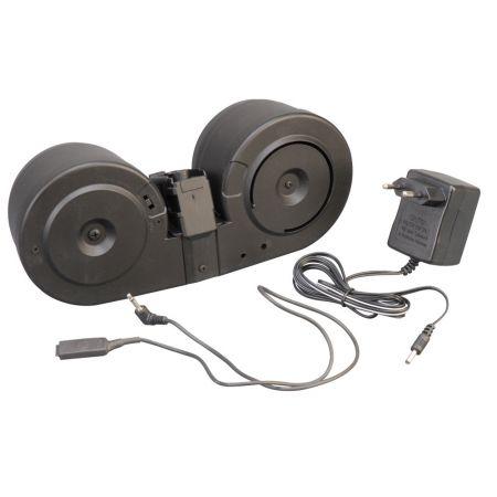 Chargeur AEG 2000 Billes Drum Tambour Ammo Box pour Type AK - A&K