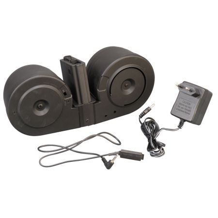 Chargeur AEG 2000 Billes Drum Tambour Ammo Box pour Type M4 - A&K