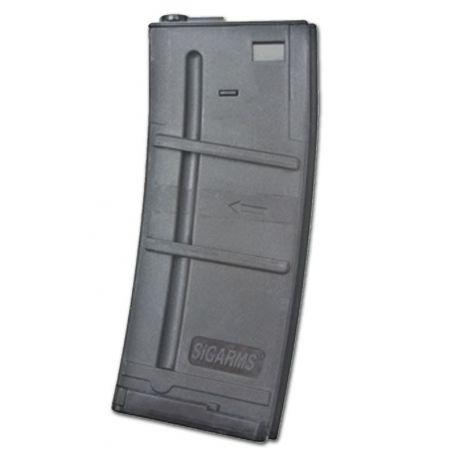 Chargeur Hi-Cap 400 Billes Type SIG 556 Réplique M4 M15 M16 AEG 285036