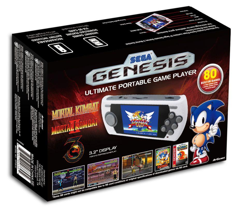 La Meilleure Console Portable: Console Portable Sega Megadrive MD + Port SD + 80 Jeux