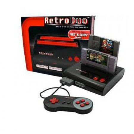 Console Retro Duo Black et Red Super Nintendo et Nes (Freezones + 2 Manettes)