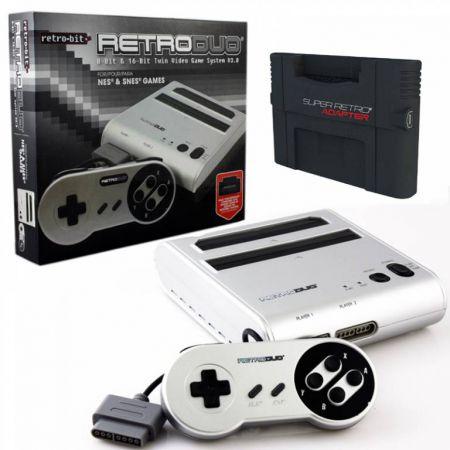 Console Retro Duo Silver + Adaptateur SRA (Super Retro Advance) Pour Jeu GBA