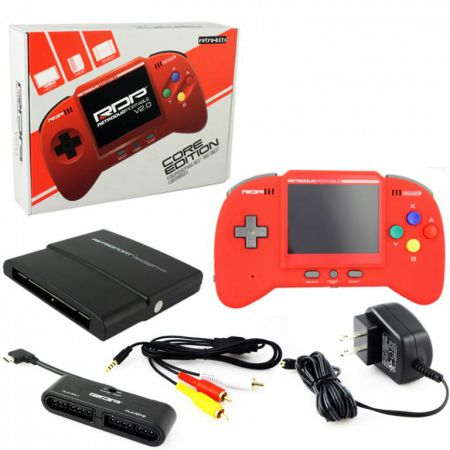 Console RetroDuo Portable RDP V2.0 Core Edition Rouge