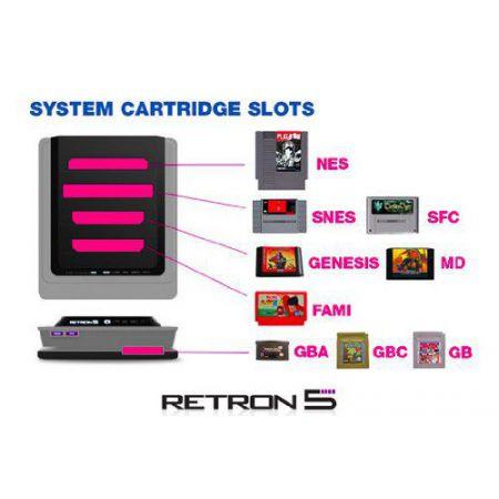 Console Retron 5 (Retro R5) Noire + 1 Manette Sans Fil Bluetooth - CR54331