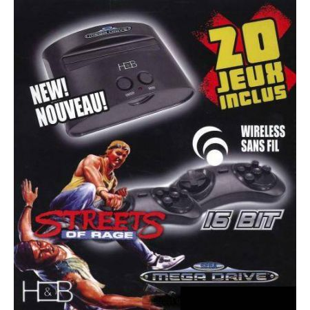 Console Sega Megadrive edition collector Street Of Rage + 20 jeux + 2 manettes