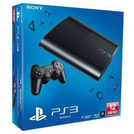 Console Sony Ps3 Noire Ultra Slim Noire 12Go