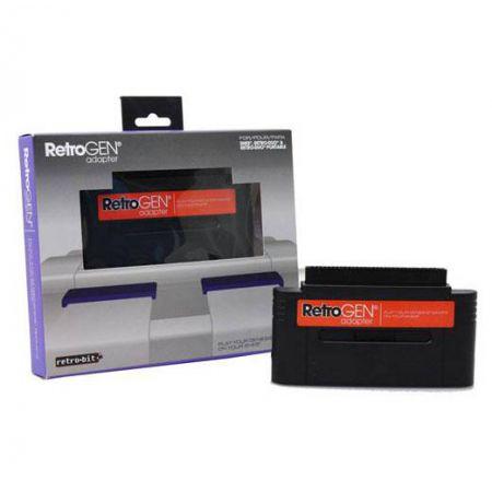 Console Super Nintendo Snes & Nes Retro Duo (RetroDuo) Silver + Retro Gen Adaptateur Megadrive