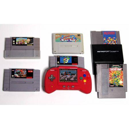 Console Super Nintendo Snes & Nes RetroDuo (Retro Duo) Portable RDP V2.0 Core Edition Rouge + Adaptateur Retro Gen