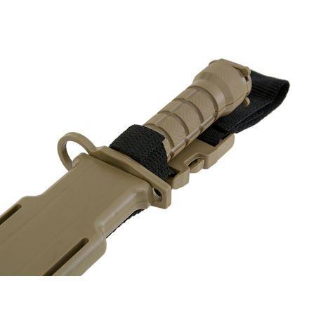 Couteau Baïonnette Factice en Caoutchouc M10 - Tan