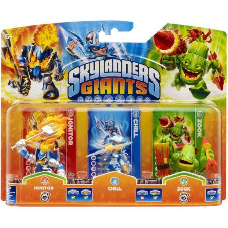 Figurines Skylanders Giants Ignitor + Chill + Zook - SKY5134