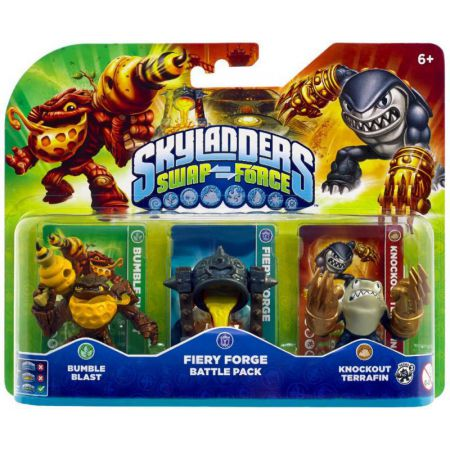 Figurines Skylanders Swap Force Bumble Blast + Fiery Forge Battle Pack + Knockout Terrafin - SKY8738