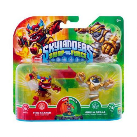 Figurines Skylanders Swap Force Fire Kraken + Grilla Drilla - SKY0274