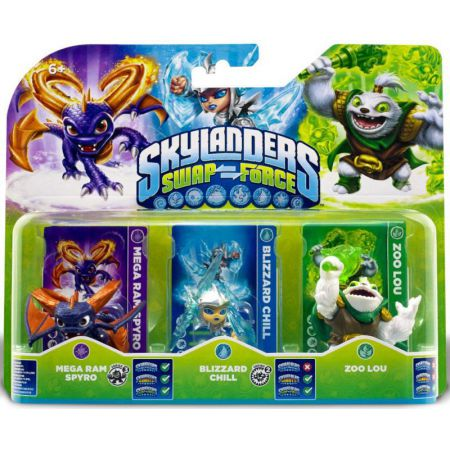 Figurines Skylanders Swap Force Mega Ram Spyro + Blizzard Chill + Zoo Lou - SKY8660