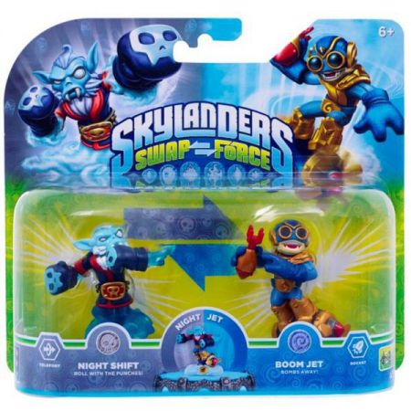 Figurines Skylanders Swap Force Night Shift + Boom Jet - SKY0267