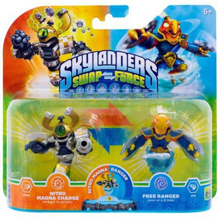 Figurines Skylanders Swap Force Nitro Magna Charge + Free Ranger - SKY0243