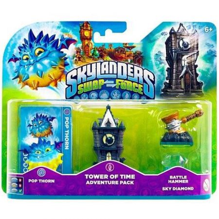 Figurines Skylanders Swap Force Tower Of Time Adventure Pack + Pop Thorn + Battle Hammer Sky Diamond - SKY0847